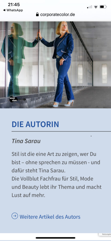 Tina Sarau Autorin CorporateColor-Blog